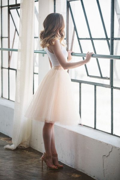 Charming Woman Skirt,Blush Tulle Skirt, Tulle Skirt, Midi Skirt, Fashion Tulle Skirt,A-line Shirt
