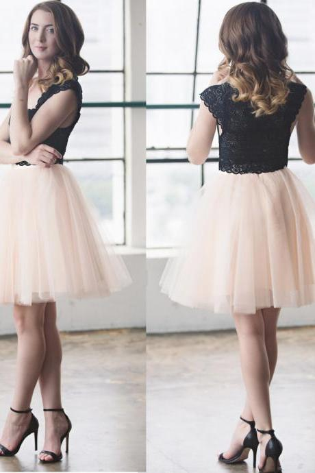 Blush Pink Satin Tulle Short Skirt Women Skirt