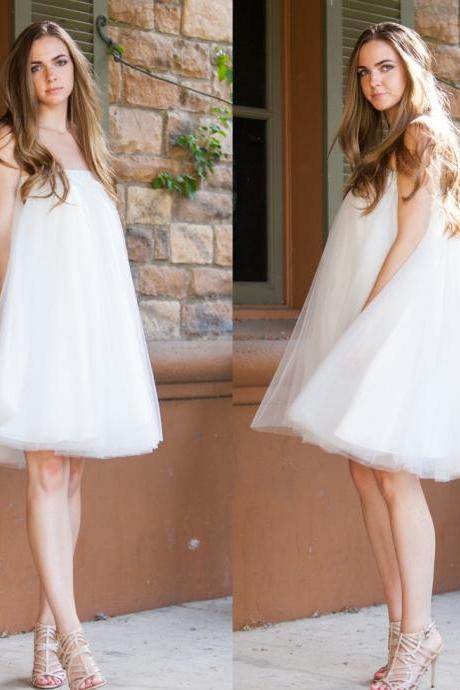 Long Ivory Tulle Skirt Women Skirt