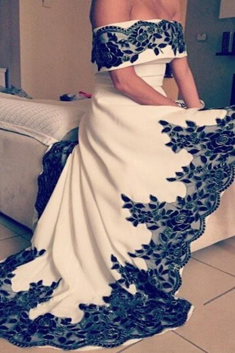 Off The Shoulder Prom Dress,High Low Prom Dress,Backless Prom Dress,Fashion Prom Dress,Sexy Party Dress, New Style Evening Dress