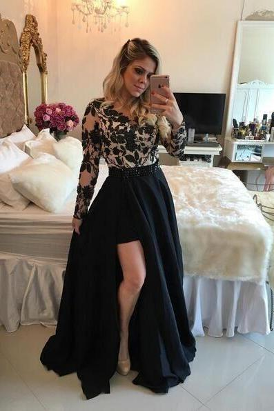 Sexy Prom Dresses Royal Blue Applique Ball Gown 2017 Short Cap Sleeve Beading Pleat Scoop Neck Sheer Custom Made Party Dress
