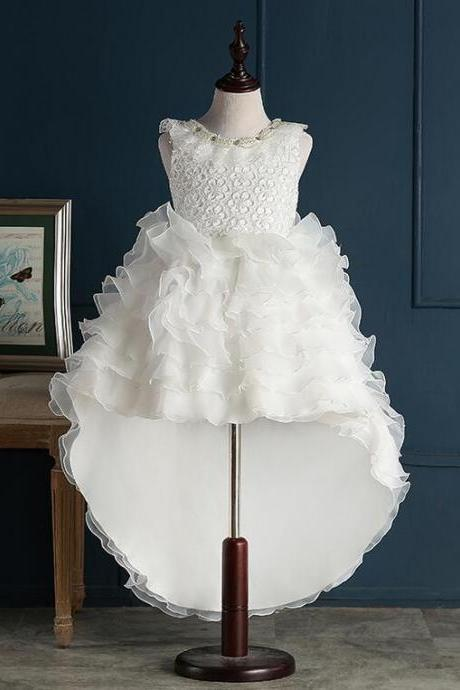 Flower Girl Dresses with Train Real Party Pageant Communion Dress Little Girls Kids/Children Dress for Wedding Kids