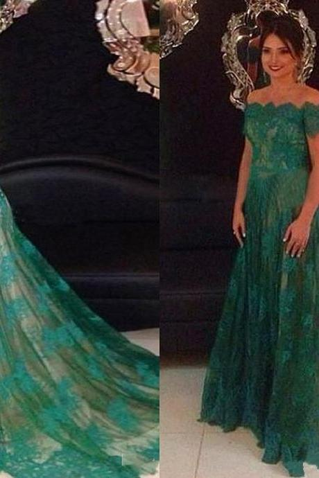 Prom Dresses, Lace Prom Gown,Prom Dresses Green, Evening Gown, Lace Evening Dress,Long Formal Dress,Maxi Dress,Party Dress,Ball Gown,Cocktail Dress,Graduation Dress