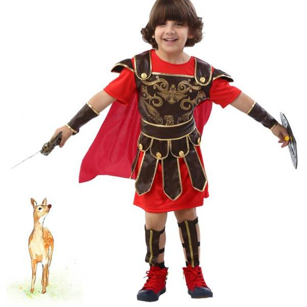 Children's Halloween costume for Cosplay boys Roman Wang Zisi Sparta brave soldier warrior,The new children's Halloween costume for cosplay party ,Cosplay children's Halloween costume party
