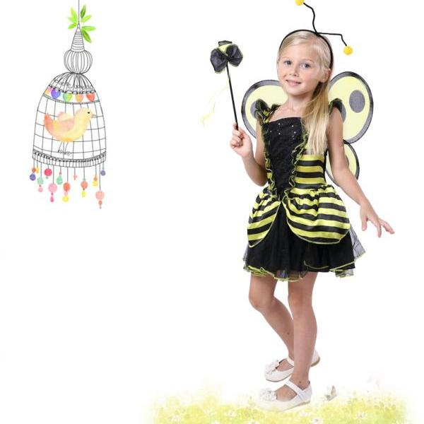 Children's Halloween costume for Cosplay show clothes lady beetle insect wings dung beetles of the girls,The new children's Halloween costume for cosplay party ,Cosplay children's Halloween costume party