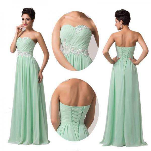 2015 CHEAP Homecoming Long Prom Bridesmaid Pageant Cocktail Evening party Dress