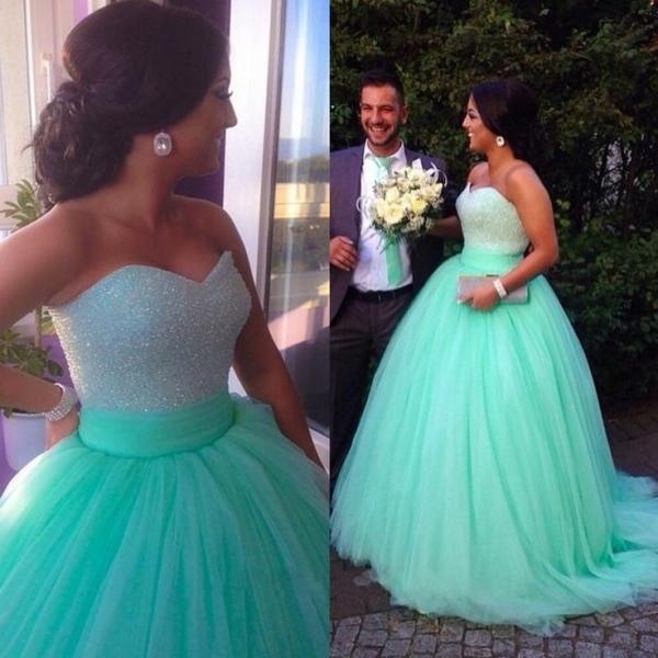 High Quality Prom Dress,Sexy Prom Dress,Sweetheart Prom Dress,Tulle Prom Dress,Beading Prom Dress