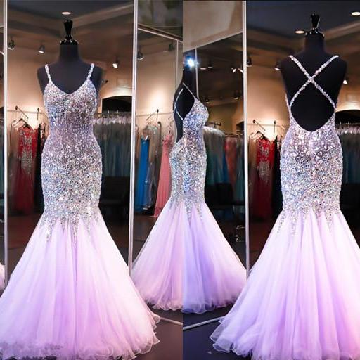 Backless Prom Dresses,Open Back Prom Dress,Prom Gown,Sparkly Prom Gowns,Elegant Evening Dress,Sparkle Evening Gowns,Mermaid Evening Gowns,Sexy Prom Dress,2016 Party Dress For Teens